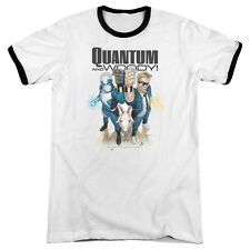 Quantum And Woody Quantum And Woody Mens Adult Heather Ringer Shirt