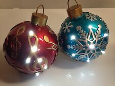 """9"""" Winter Lane Blue & Red Ornament with LED Lights Christmas Ornaments"""