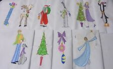 Assorted CHRISTMAS Theme Embroidered Quilt Block Sets in Multiple sizes, prices