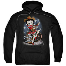 Betty1930's Boop Cartoon American Icon Country Star Adult Pull-Over Hoodie