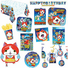 Yo-Kai Watch Children's Birthday Party Supplies Plates Napkins Favours Listing