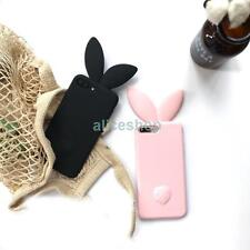 3D Candy Long Ear Bunny Rabbit Silicone Soft Case Cover for iPhone 7 7 Plus 6 6S