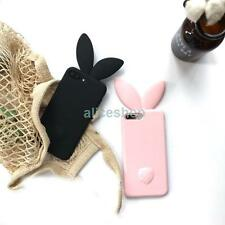 3D Candy Long Ear Bunny Rabbit Silicone Soft Case Cover for iPhone 8 Plus X 6 6S