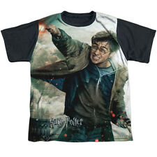 Harry Potter Harry Vs Voldemort Big Boys Youth Sublimated Shirt with Black Back