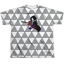 Adventure Time Marcy Triangles Big Boys Youth Sublimated Polyester Shirt (White,