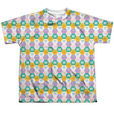 Adventure Time Hexagon Pattern (Front/Back Print) Big Boys Youth Sublimated Poly