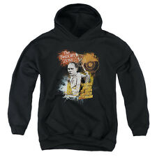 The Twilight Zone Enter At Own Risk Big Boys Youth Pullover Hoodie BLACK