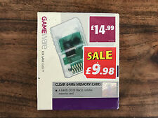 NINTENDO GAMECUBE & WII MEMORY CARD 64 MB 64MB in Clear Game Cube Mem Card Meg