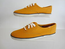 LADIES KEDS CHAMP OX YELLOW LACE UP PUMPS WF43924