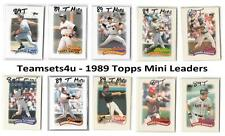 1989 Topps Mini Leaders Baseball Set ** Pick Your Team **