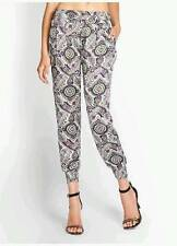 NEW WOMENS GUESS SUMMER BAZAAR PAISLEY PRINT SMOCK CROP SILKY DRESS PANTS S M