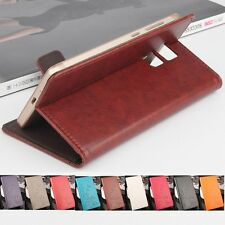 "For 5.5"" Vernee Apollo Lite Phone PU Leather Wallet Card Slot Case Cover Skin"