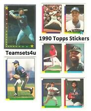 1990 Topps Stickers Baseball Team Sets ** Pick Your Team Set **