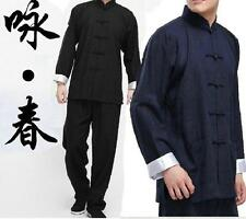 Chinese Kung Fu Mens Retro Suits Martial Arts Tai Chi Uniform Costume Casual US