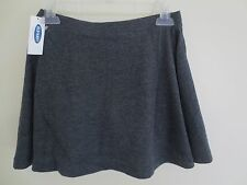 NEW Girls XS S M *5**6-7**8** OLD NAVY Charcoal Gray Jersey Cotton Circle Skirt