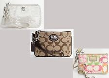 Coach Small Wristlet U Pick Color/Style Gift Wrapped NEW
