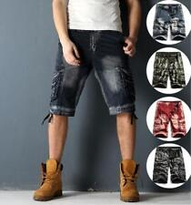 Mens Combat Work Trousers Camo Camouflage Summer Casual Military Cargo Pants Sz@