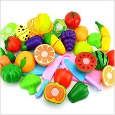 1* Toy Kitchen Fruit Vegetable Food Pretend Reusable Role Play Cutting Set Showy