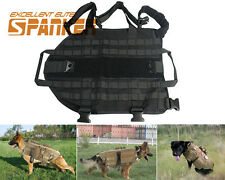 Tactical Military Army Molle K9 Dog Vest Harness Canine Dog Training Vest Black