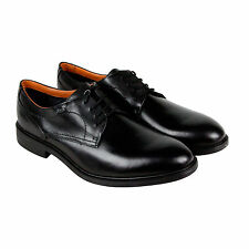 Clarks ChilverWalkGTX Mens Black Leather Casual Dress Lace Up Oxfords Shoes