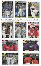 2015 Topps Heritage Hi Numbers Combo Cards Baseball Set ** Pick Your Team **