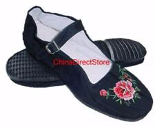 Discontinued Women's Buckle Mary Jane Flower Embroidery Shoes Size 4 & 11 Only!