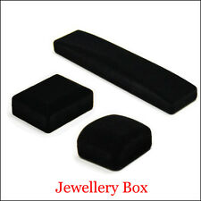 Black Square Velvet Jewelry Ring Earrings Watch Necklace Bracelet Display Box