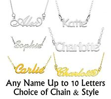 PERSONALISED NAME NECKLACE 1MM SOLID 925 STERLING SILVER CHOOSE ANY NAME