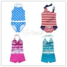 Kids Baby Girls Bikini Suit Set Swimsuit Swimwear Bathing Suit Beachwear Clothes