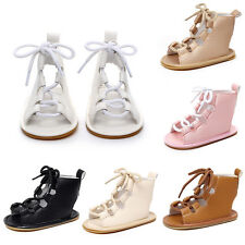 Toddler Baby Girl Boy Gladiator Leather Sandals Rome Sandles Kid Hollow Out Boot