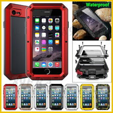 Armor Shockproof Aluminum Metal Gorilla Glass Hard Case Shell For Various Phones
