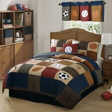 Classic Sports Twin Quilt with Pillow Sham