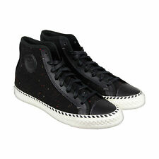 PF Flyers Rambler Speckled Mens Black Wool High Top Lace Up Sneakers Shoes