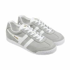 Gola Harrier Suede Mens Grey Suede Lace Up Sneakers Shoes