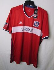 Chicago Fire Adidas Mens M, XL 2016 Short Sleeve Replica Climacool Red Jersey A9