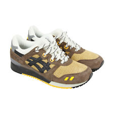Asics Gel Lyte Iii Mens Brown Suede & Leather Athletic Lace Up Running Shoes