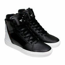 Creative Recreation Adonis Mens Black White Patent Leather Sneakers Shoes