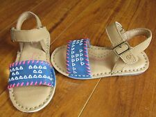 NEW Stride Rite SR Filipa Leather sandals Girls 5 or 9 Tan Blue Pink White $46.