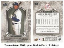 2008 Upper Deck A Piece of History Baseball Set ** Pick Your Team **