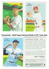 2010 Topps National Chicle (Base 1-275) Baseball Set ** Pick Your Team **