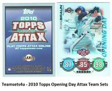2010 Topps Opening Day Attax Baseball Set ** Pick Your Team **