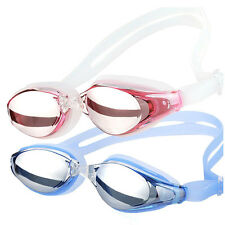 Adult Anti-fog Anti-UV Protection Coating Mirrored Swimming Goggles Glass