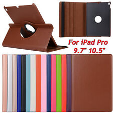 For Apple iPad Pro  9.7'' 10.5'' Inch 360° Rotating Leather Stand Cover Case New