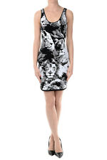 ROBERTO CAVALLI New Woman Dress Stretch Sleeveless White Black Made ITALY