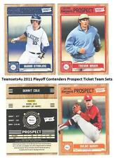 2011 Playoff Contenders (Prospect Ticket) Baseball Set ** Pick Your Team **