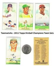 2011 Topps Kimball Champions Baseball Set ** Pick Your Team **