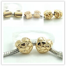 5pcs gold Retro Spacer European Charm Beads Fit Necklace Bracelet jewelry