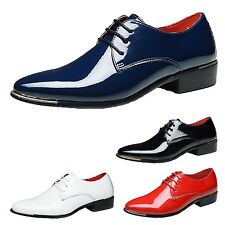tata formal Shiny Wedding Patent Brogues Faux leather Pointed toe business Shoes