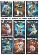 2012 Topps Prime Nine Home Run Legends Baseball Set ** Pick Your Team **