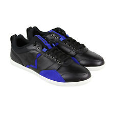 Diesel S Tage Mens Black Leather Lace Up Lace Up Sneakers Shoes